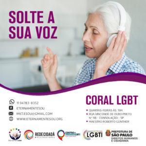Um coral LGBT+ formado pela comunidade e para a comunidade. Através de um repertório democrático onde cada participante pode sugerir as canções.